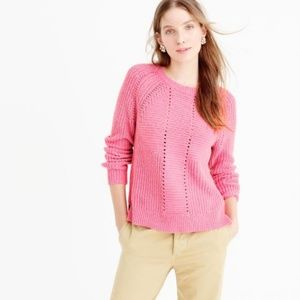 J. Crew Pointelle Point Pullover Sweater